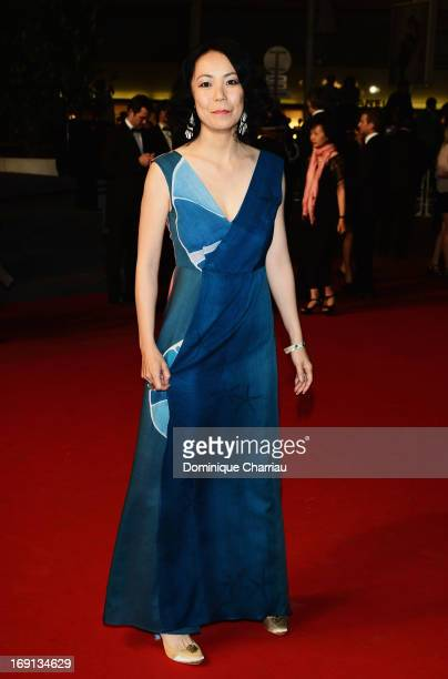 Jury member Naomi Kawase attends the Premiere of 'Wara No Tate' during the 66th Annual Cannes Film Festival at the Palais des Festivals on May 20...