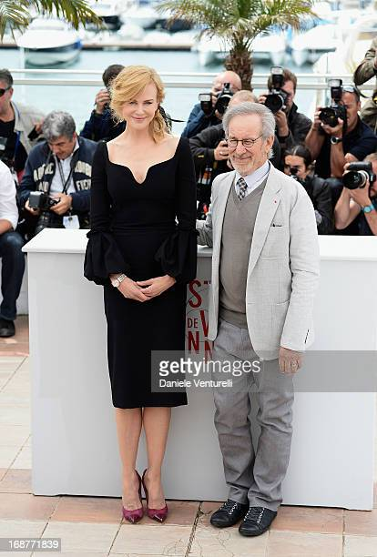 Jury member Nicole Kidman and jury president Steven Spielberg attend the Jury photocall during the 66th Annual Cannes Film Festival at Palais des...