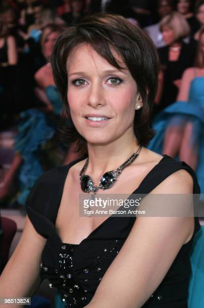 Jury Member of Miss France Pageant Carole Rousseau poses during the election on December 8 2007 in Dunkerque France