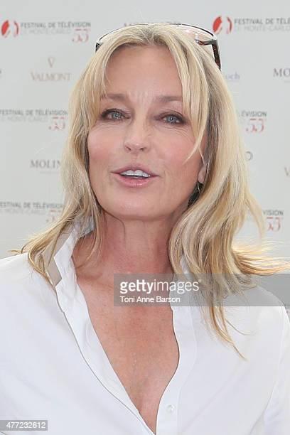Jury member of the 55th Monte Carlo TV Festival Bo Derek attends a photocall on June 15 2015 in MonteCarlo Monaco
