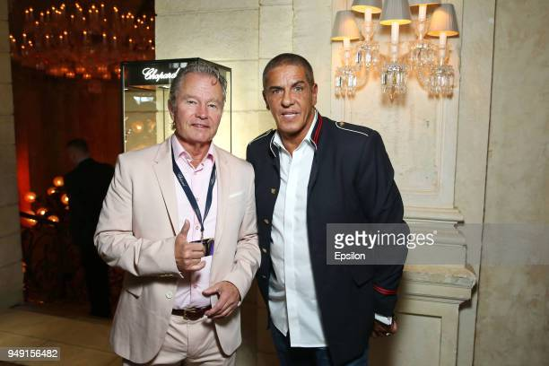 Jury member of the main competition actor John Savage and actor Samy Naceri attend a Jury Breakfast of 40th Moscow International Film Festival at...