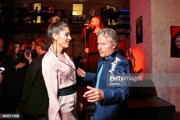 Jury member of the main competition actor John Savage and actress Blanca Blanco dance during the Best Web Time event of Russian Digital reporter...
