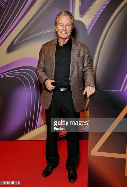 Jury member of the main competition actor John Savage attends at Moscow's Film Festival photocall in Oktyabr Cinema Hall on April 24 2018 in Moscow...