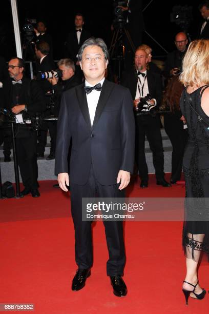 Jury member Park Chanwook attends the 'In The Fade ' screening during the 70th annual Cannes Film Festival at Palais des Festivals on May 26 2017 in...