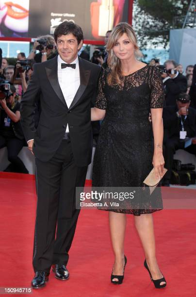Jury member Pierfrancesco Favino and wife Anna Ferzetti attend The Reluctant Fundamentalist Premiere and Opening Ceremony of the 69th Venice...