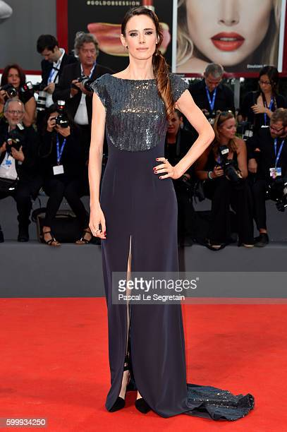 Jury member Pilar Lopez de Ayala attends the premiere of 'Jackie' during the 73rd Venice Film Festival at Sala Grande on September 7 2016 in Venice...