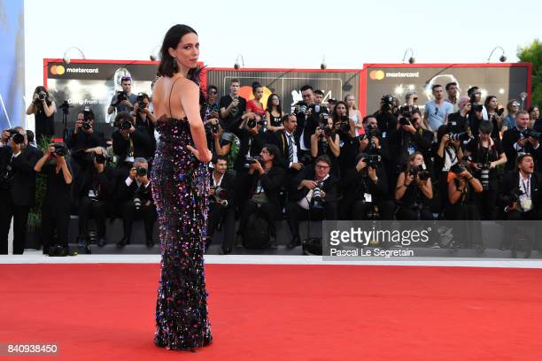 Jury member Rebecca Hall walks the red carpet ahead of the 'Downsizing' screening and Opening Ceremony during the 74th Venice Film Festival at Sala...