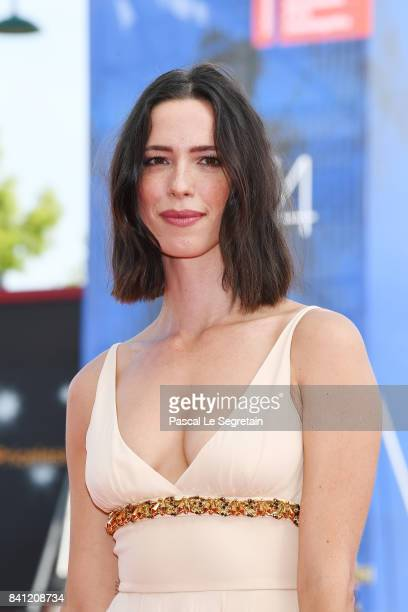 Jury member Rebecca Hall walks the red carpet ahead of the 'First Reformed' screening during the 74th Venice Film Festival at Sala Grande on August...