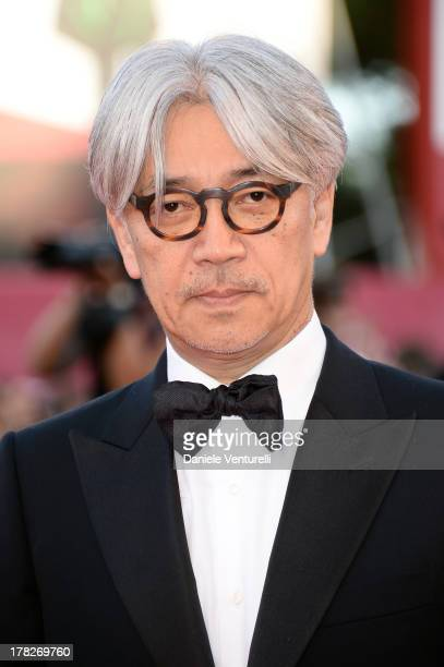 Jury member Ryuichi Sakamoto attends 'Gravity' premiere and Opening Ceremony during The 70th Venice International Film Festival at Sala Grande on...