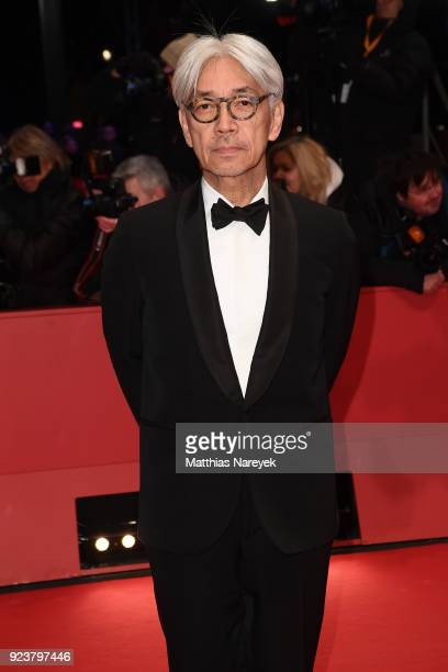 Jury Member Ryuichi Sakamoto attends the closing ceremony during the 68th Berlinale International Film Festival Berlin at Berlinale Palast on...