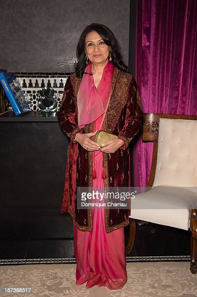 Jury Member Sharmila Tagore attends the Dior dinner at Hotel Selman during the 12th International Marrakech Film Festival on December 2 2012 in...