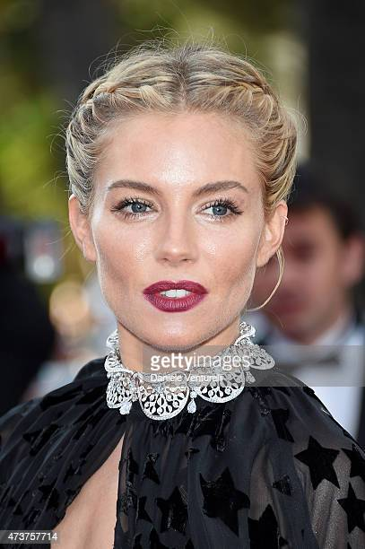 Jury member Sienna Miller attends the 'Carol' Premiere during the 68th annual Cannes Film Festival on May 17 2015 in Cannes France
