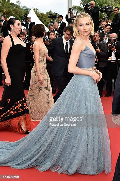 Jury member Sienna Miller attends the closing ceremony and 'Le Glace Et Le Ciel' Premiere during the 68th annual Cannes Film Festival on May 24 2015...