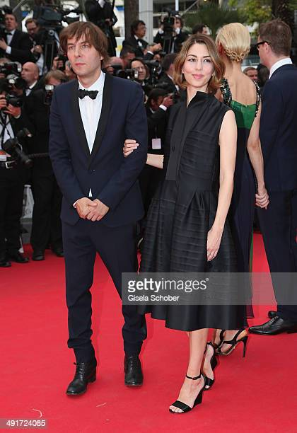 Jury member Sofia Coppola and husband Thomas Mars attend the 'Saint Laurent' premiere during the 67th Annual Cannes Film Festival on May 17 2014 in...