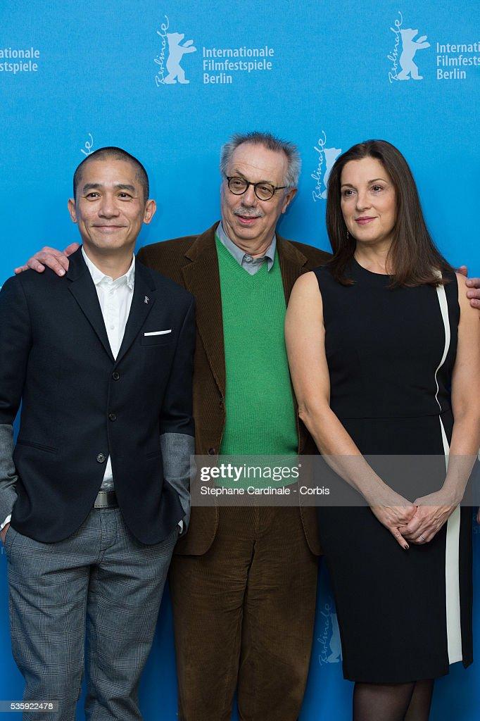 Jury member Tony Leung, Berlinale Festival Director Dieter Kosslick and Barbara Broccoli attend the International Jury Photocall during the 64th Berlinale International Film Festival at the Grand Hyatt, in Berlin, Germany.