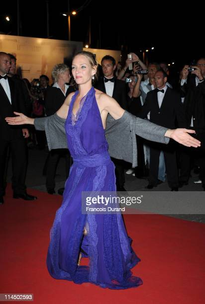 Jury Member Uma Thurman attends the Palme D'Or Winners Dinner at the Palais des Festivals during the 64th Cannes Film Festival on May 22 2011 in...