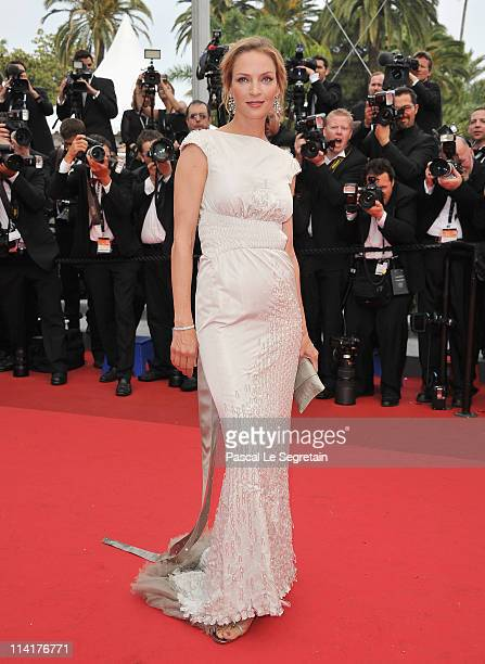 """Jury Member Uma Thurman attends the """"Pirates of the Caribbean: On Stranger Tides"""" premiere at the Palais des Festivals during the 64th Cannes Film..."""