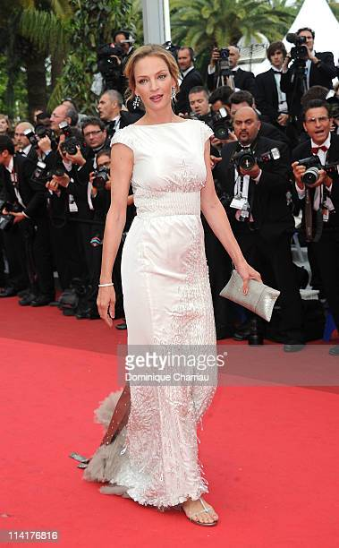 """Jury member Uma Thurman attends the """"Pirates of the Caribbean: On Stranger Tides"""" Premiere during the 64th Annual Cannes Film Festival at Palais des..."""