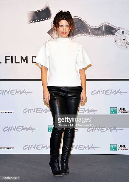 Jury member Valentina Cervi attends the Jury Photocall during the 7th Rome Film Festival at the Auditorium Parco Della Musica on November 8 2012 in...