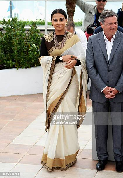 Jury member Vidya Balan attends the Jury photocall during the 66th Annual Cannes Film Festival at Palais des Festivals on May 15 2013 in Cannes France