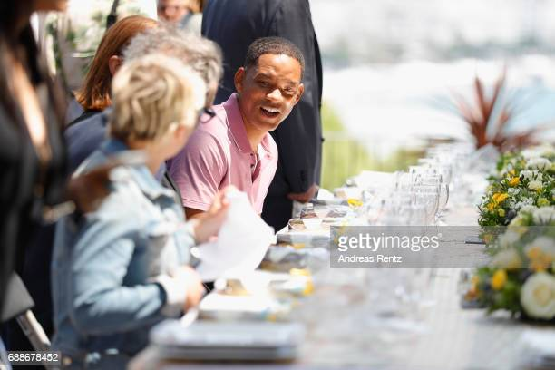 Jury member Will Smith attends the Mayor's Aioli during the 70th annual Cannes Film Festival at Palais des Festivals on May 26 2017 in Cannes France
