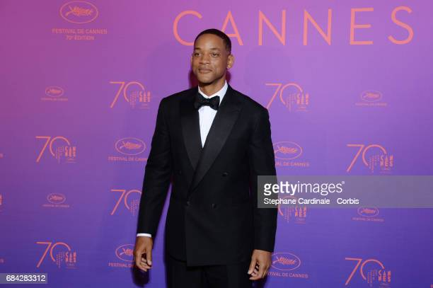 Jury member Will Smith attends the Opening Gala dinner during the 70th annual Cannes Film Festival at Palais des Festivals on May 17 2017 in Cannes...