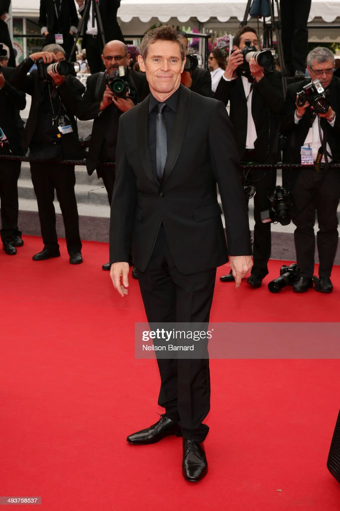 Jury member Willem Dafoe attends the red carpet for the Palme D'Or winners at the 67th Annual Cannes Film Festival on May 25, 2014 in Cannes, France.