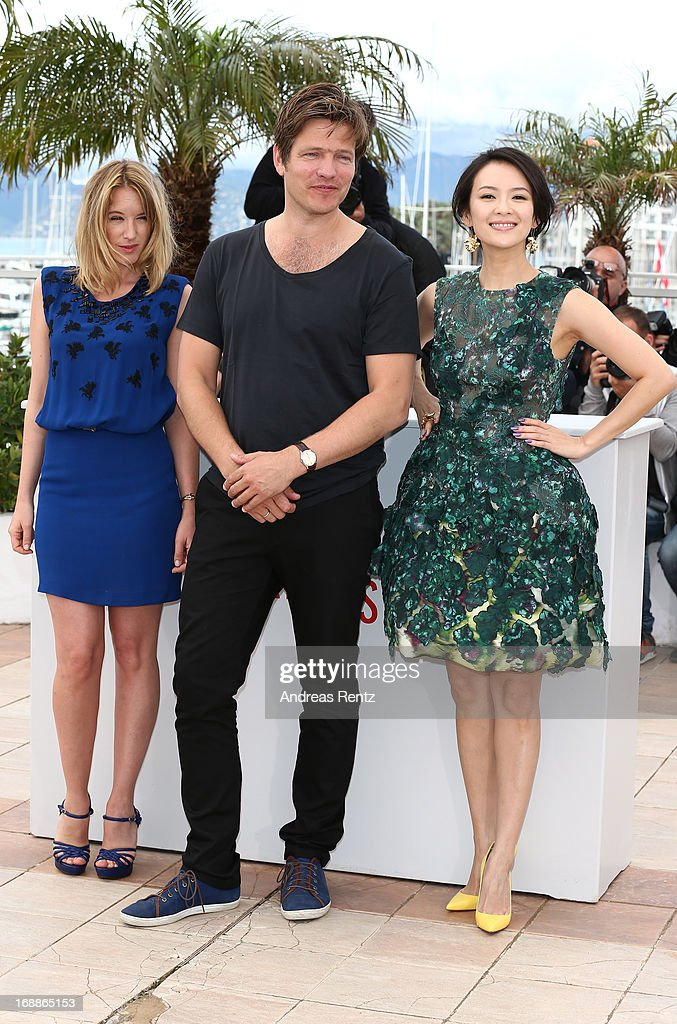 Jury members actress Ludivine Sagnier, Jury President Thomas Vinterberg and Jury member actress Zhang Ziyi attend the Jury 'Un Certain Regard' Photocall during the 66th Annual Cannes Film Festival at the Palais des Festivals on May 16, 2013 in Cannes, France.