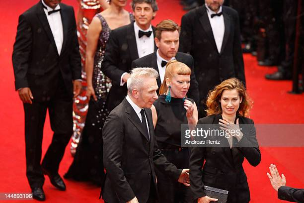 Jury members Alexander Payne Ewan McGregor Andrea Arnold Emmanuelle Devos and Jean Paul Gaultier attends the 'Amour' premiere during the 65th Annual...