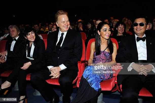 Jury members Andreas Dresen Athina Rachel Tsangari Tim Robbins Shirin Neshat and Wong Kar Wai attend the Closing Ceremony during the 63rd Berlinale...