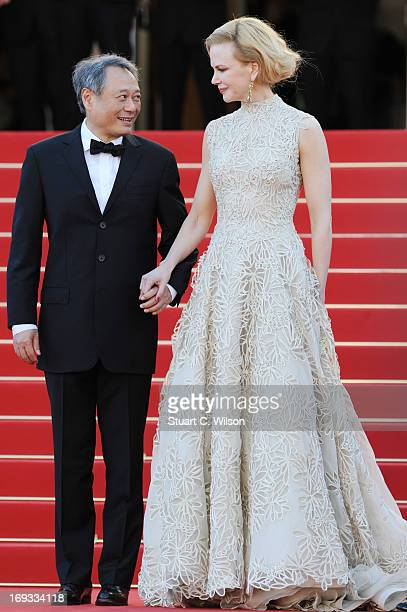 Jury members Ang Lee ad Nicole Kidman attend the 'Nebraska' premiere during The 66th Annual Cannes Film Festival at the Palais des Festival on May 23...