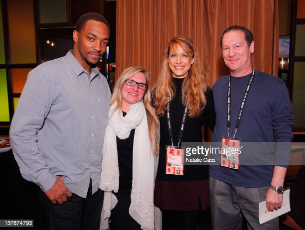 Jury members Anthony Mackie Amy Vincent Lynn Shelton and Cliff Martinez attend the Awards Presenters Reception during the 2012 Sundance Film Festival...