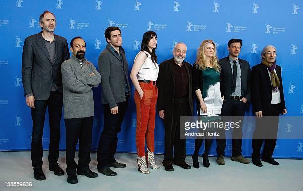 Jury members Anton Corbijn Jake Gyllenhaal Charlotte Gainsbourg jury president Mike Leigh jury members Barbara Sukowa Francois Ozon Asghar Farhadi...