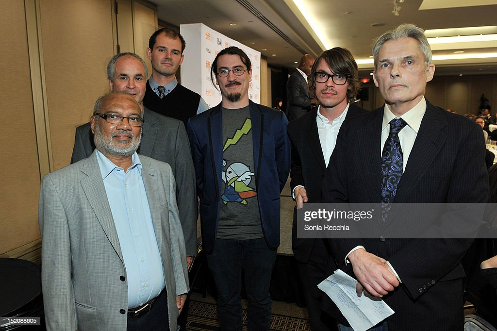 Jury members Ashok Rane, Louis-Paul Rioux, Brian McKechnie, Juan Manuel Dominguez, Jon Asp and Peter Keough at the 37th Toronto International Film Festival Award Winner Ceremony held at the InterContinental Toronto Center Hotel on September 16, 2012 in Toronto, Canada.
