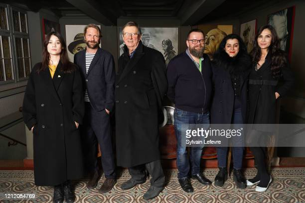 Jury members Astrid BergesFrisbey Luc Schiltz Mike Newell Marjane Satrapi Famke Janssen and artistic director of the festival Alexis Juncosa attend...