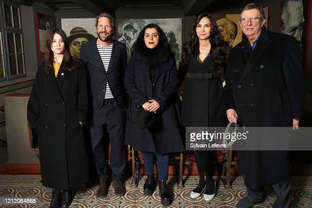 Jury members Astrid BergesFrisbey Luc Schiltz Mike Newell Marjane Satrapi Famke Janssen attend jury photocall of the 10th Luxembourg City Film...