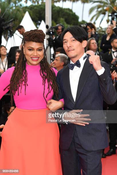 Jury members Ava DuVernay and Chang Chen attend the screening of Blackkklansman during the 71st annual Cannes Film Festival at Palais des Festivals...