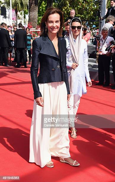 Jury members Carole Bouquet and Leila Hatami attend The Wonders Premiere at the 67th Annual Cannes Film Festival on May 18 2014 in Cannes France