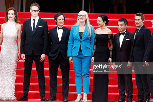 Jury members Carole Bouquet Nicolas Winding Refn Gael Garcia Bernal Jury President Jane Campion jury members Doyeon Jeon Zhangke Jia and Willem Dafoe...