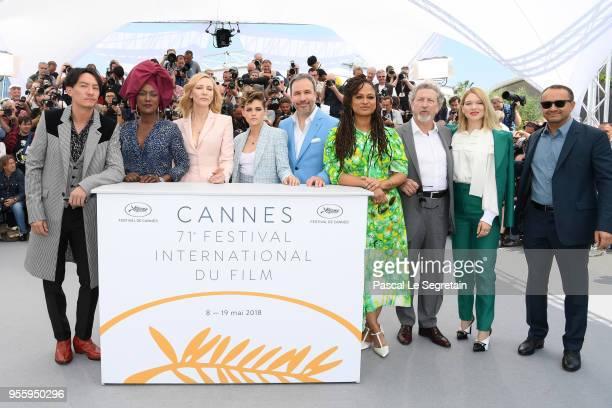 Jury members Chang Chen Khadja Nin jury head Cate Blanchett Kristen Stewart Denis Villeneuve Ava DuVernay Robert Guediguian Lea Seydoux and Andrey...