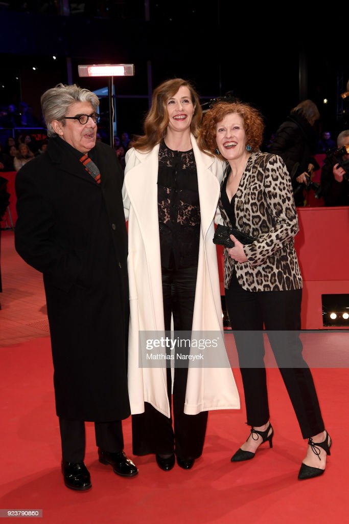 Jury members Chema Prado, Cecile de France and Stephanie Zacharek attend the closing ceremony during the 68th Berlinale International Film Festival Berlin at Berlinale Palast on February 24, 2018 in Berlin, Germany.