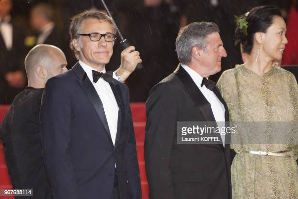 Jury members Christoph Waltz Daniel Auteuil and Naomi Kawase attend the Opening Ceremony and 'The Great Gatsby' Premiere during the 66th Annual...