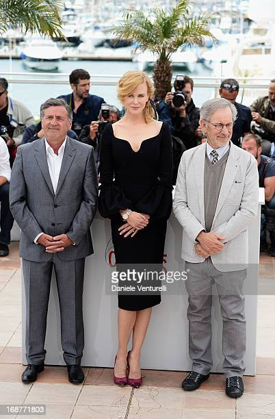 Jury members Daniel Auteuil, Nicole Kidman and jury president Steven Spielberg attend the Jury photocall during the 66th Annual Cannes Film Festival...