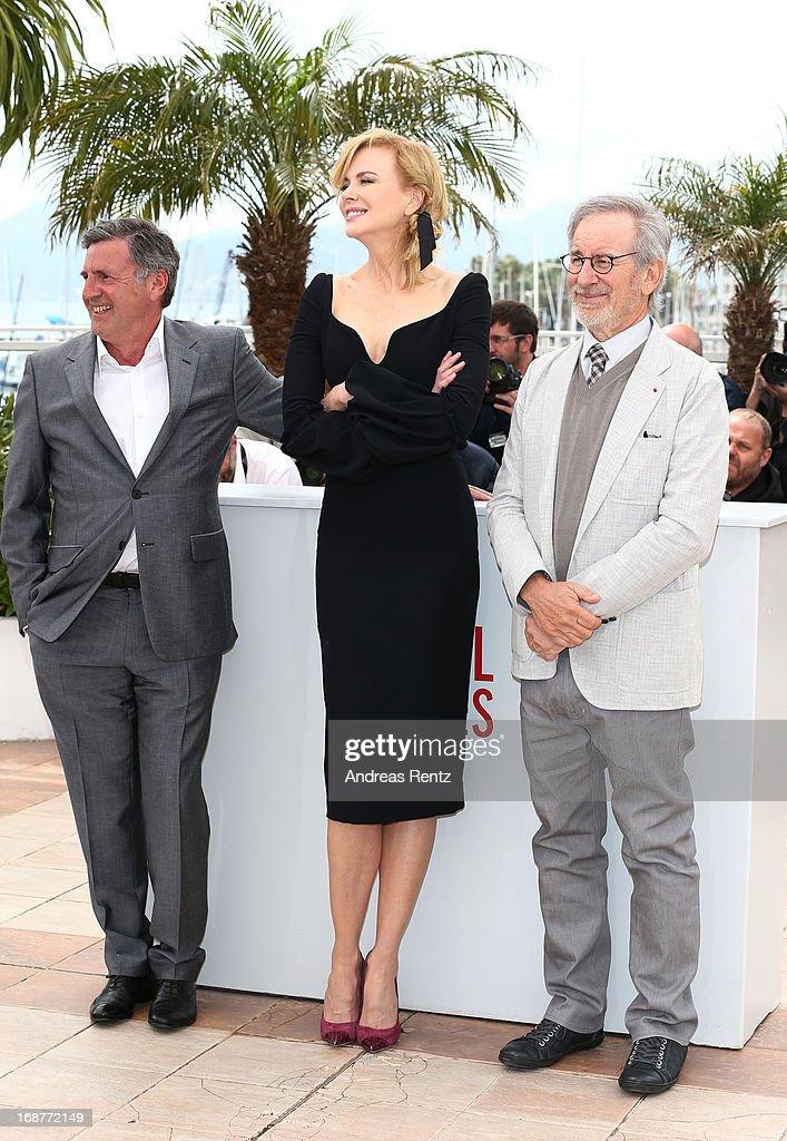 Jury members Daniel Auteuil, Nicole Kidman and Steven Spielberg attend the Jury Photocall during the 66th Annual Cannes Film Festival at the Palais des Festivals on May 15, 2013 in Cannes, France.