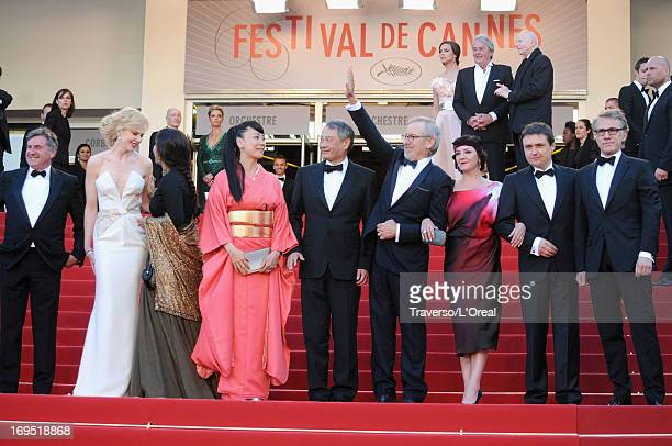 Jury members Daniel Auteuil Nicole Kidman Vidya Balan Naomi Kawase Ang Lee President of the Feature Film Jury Steven Spielberg jury members Lynne...