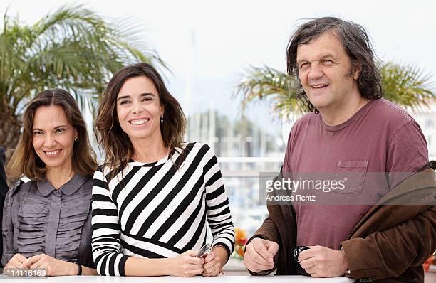 Jury Members Daniela Michel, Elodie Bouchez and Jury President Emir Kusturica attend the Un Certain Regard Jury Photocall during the 64th Annual...