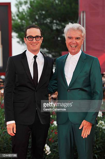 Jury members Darren Aronofsky and David Byrne attend the Damsels In Distress premiere and closing ceremony during the 68th Venice Film Festival at...
