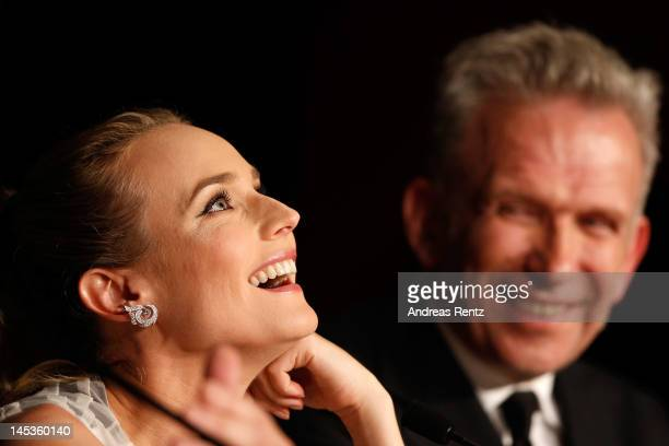 Jury members Diane Kruger and JeanPaul Gautier attend the Winners Press Conference during the 65th Annual Cannes Film Festival on May 27 2012 in...