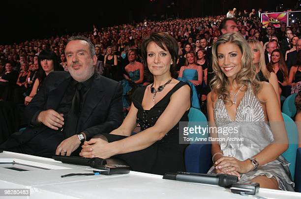 Jury Members Dominique Farrugia Carole Rousseau and Alexandra Rosenfeld during the Miss France Pageant on December 08 2007 in Dunkerque