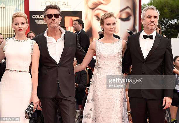 Jury members Elisabeth Banks Pawel Pawlikowski Diane Kruger and jury president Alfonso Cuaron attend the opening ceremony and premiere of 'Everest'...